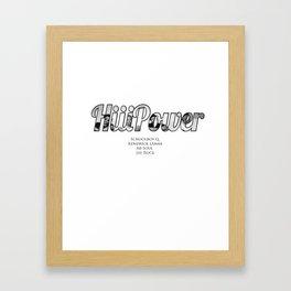 HiiiPower/TDE/Black Hippy Artists Framed Art Print