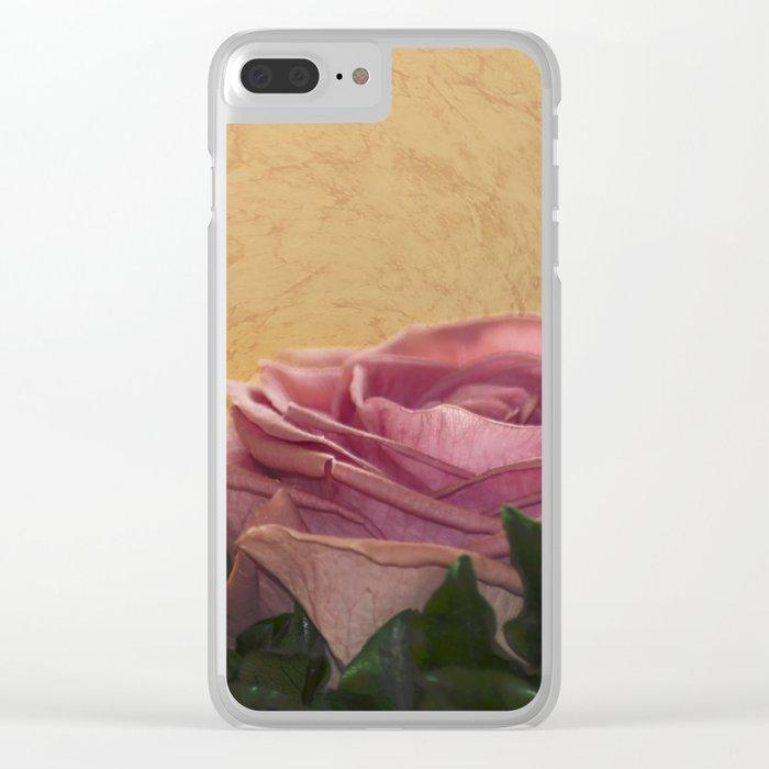 rosea rosa sine aqua Clear iPhone Case