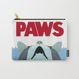 PAWS - Spoof movie poster inspired by classic cult horror film JAWS Carry-All Pouch