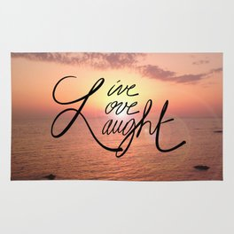 Live, Love, Laught Rug