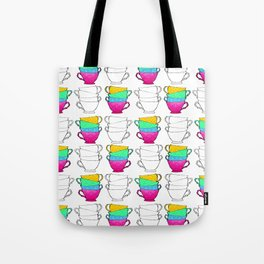 Tea Cup Pattern Tote Bag