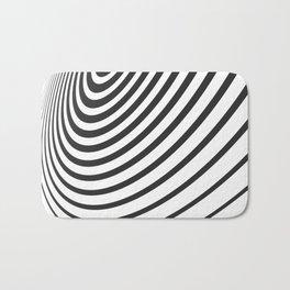 Black and White Minimal 3D Circle III Bath Mat