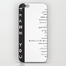 Multilingual Thank You iPhone Skin