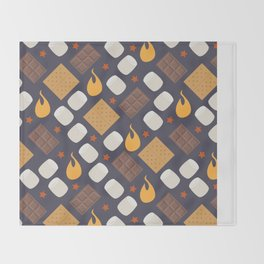Smores on the Campfire Throw Blanket