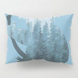Misty Forest Koala Bear - Blue Pillow Sham