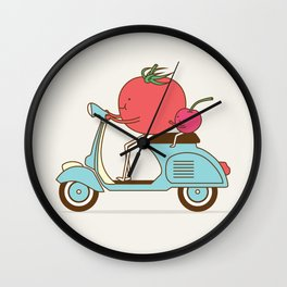 Cherry Tomato Wall Clock