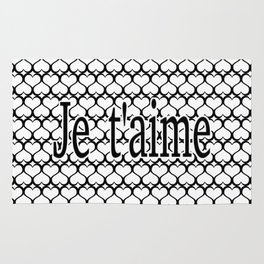 Je t'aime Pattern Rug