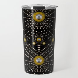 Lace of pearls in the earth galaxy pop art Travel Mug