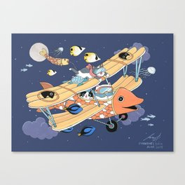 The Flying Night Canvas Print