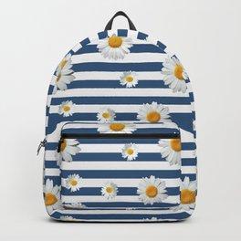 Spring Bloom | Navy Ribbon Backpack