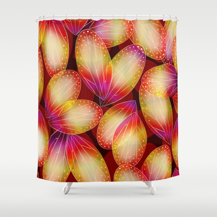 Fire Fairy Wings Shower Curtain