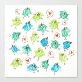 Scribble Birds Canvas Print