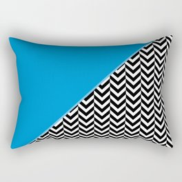 Chevron and Blue Rectangular Pillow