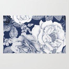 BLUE NATURE - FLOWERS Rug