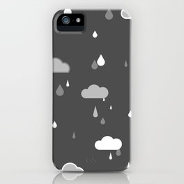 Grey Rains iPhone Case