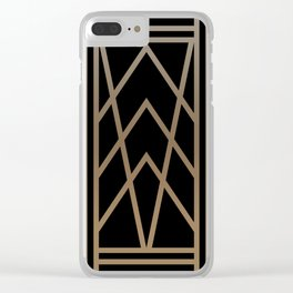 BLACK AND GOLD 2 (abstract art deco geometric) Clear iPhone Case