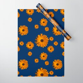 Orange power flower Wrapping Paper