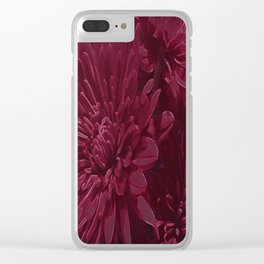 Burgundy Chrysanthemums Clear iPhone Case