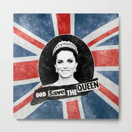 God Save The Queen - Kate Middleton Metal Print