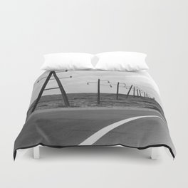 without a destination  Photo by Andrea Scuratti Duvet Cover