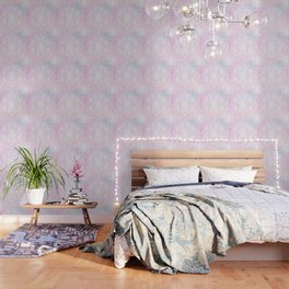 Candyfloss Marble Mandala Wallpaper