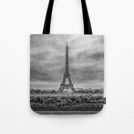 PARIS Eiffel Tower Thunderstorm Tote Bag
