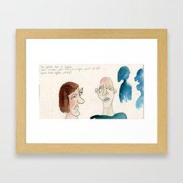 love in your eyes boner in your pants Framed Art Print