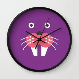Purple Walrus Wall Clock