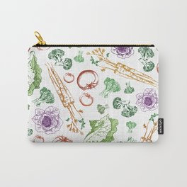 Garden Veggies - Bright on White Carry-All Pouch