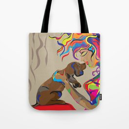 """""""Fall in Lust"""" Paulette Lust's Original, Contemporary, Whimsical, Colorful Art  Tote Bag"""