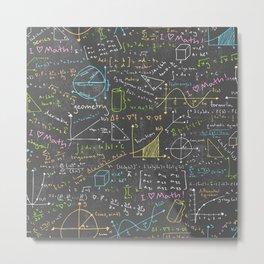 Math Lessons Metal Print
