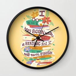 Reading list Wall Clock