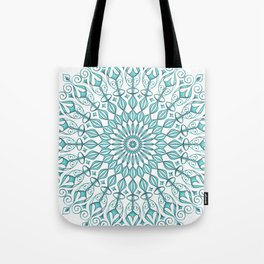 Aqua mandala Tote Bag