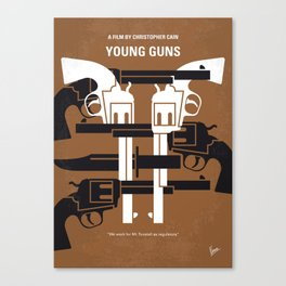 No916 My YoungGuns minimal movie poster Canvas Print