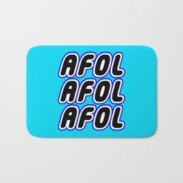 AFOL AFOL AFOL in Brick Font Logo Design [Alternate Colors] by Chillee Wilson Bath Mat