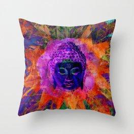 Blue Buddha Throw Pillow