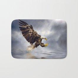 Bald Eagle swooping Bath Mat