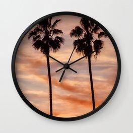 Santa Monica Sunset Wall Clock