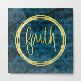 Golden Faith Metal Print