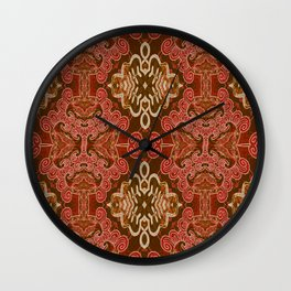 Celtic and Mayan Inspired Neotribal Print Wall Clock