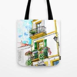 Casa carrer Sta Creu - Ibiza Tote Bag