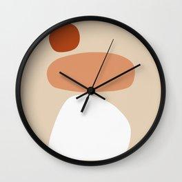 Shape Study #9 - Stacking Stones Wall Clock