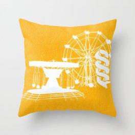 Seaside Fair in Yellow Throw Pillow