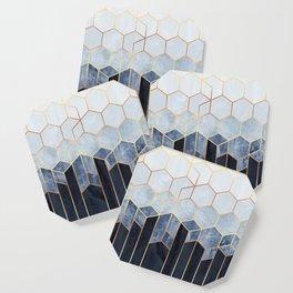 Soft Blue Hexagons Coaster