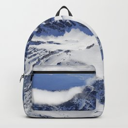 """Big mountains"". Aerial photography Backpack"