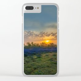 Daybreak In The Land Of Bluebonnets Clear iPhone Case