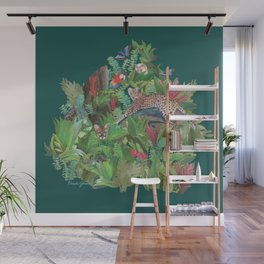 Into the Wild Emerald Forest Wall Mural