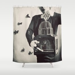 The Butterfly Releaser Shower Curtain