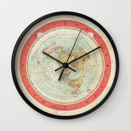 Flat Earth Wall Clock