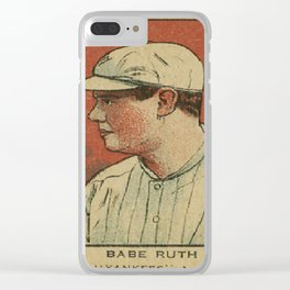 Babe Ruth Yankees Clear iPhone Case